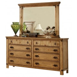 Moab Weathered Elm Double Dresser with Optional Mirror